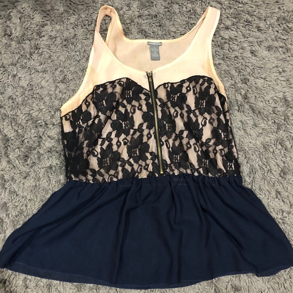 Charlotte Russe Tops - Charlotte Russe Lace Tank